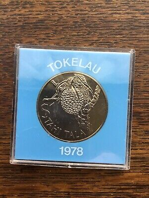 Tokelau 1978 $1 One Dollar Coin In Protective Capsule Unc Tahi Tala