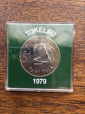 Tokelau 1979 $1 One Dollar Coin In Protective Capsule Unc Tahi Tala