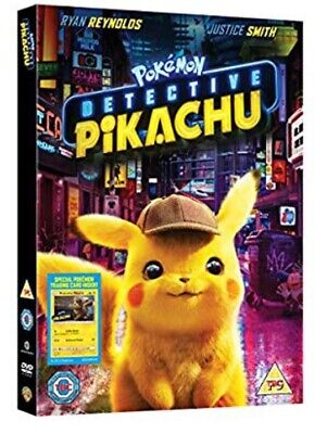 POKEMON DETECTIVE PIKACHU DVD 2019. Uk Pre Order Ryan Reynolds Film