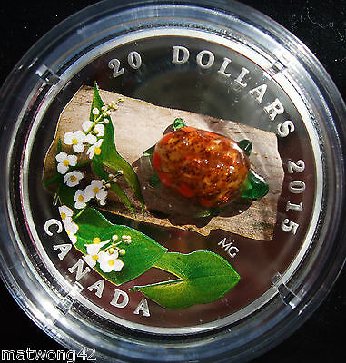 2015 Canada $20 Murano Venetian Glass Turtle 1oz Silver Proof Coin