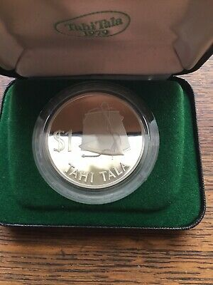 1979 Tokelau $1 Tahi Tala Silver Proof Coin Boxed