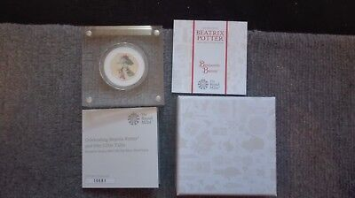 Royal Mint Beatrix Potter 2017 Benjamin Bunny Silver Proof 50p Coin