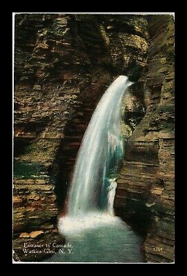 Us Postcard Entrance To Cascade Natural Water Falls Watkins Glen New York