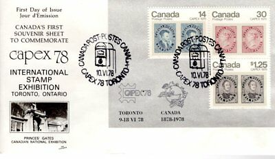 1978 #756a CAPEX'78 S/S FDC with NR Cover cachet