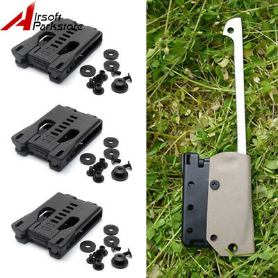 3pcs Portable Multi Functional K Sheath Kydex Scabbard Belt Clip Outdoor Camping