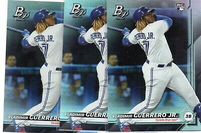 2019 Bowman Platinum Vladimir Guerrero Jr. RC SP Lot of 3 Blue Jays