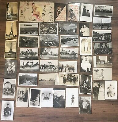 Lot of 40+ Antique & Vintage Postcards,1900s-1950s. Used And Unused !!