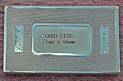 Antique style hallmarked silver visiting card case