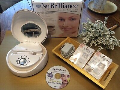 NuBrilliance Real Microdermabrasion at Home Kit 3 Diamond Tips Complete System