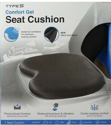 TypeS Comfort Gel Non Slip Seat Cushion for Car, Office Wheelchair New Open Box