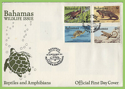 Bahamas 1984 Reptiles and Amphibians set on First Day Cover