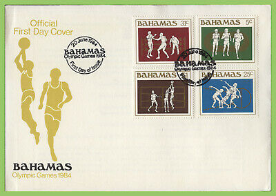 Bahamas 1984 Olympic Games set on First Day Cover