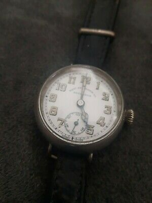 VINTAGE, WEST END WATCH CO SECUNDUS Mens Hand Winding Trench Watch  SWISS MADE
