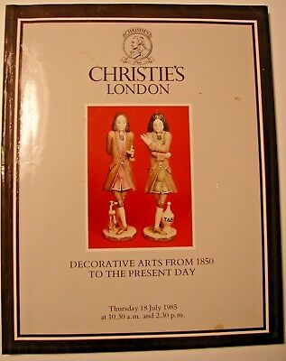 Christie's London auction catalog Decorative Arts from 1850 July 18, 1985