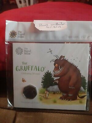 2018 Royal Mint The Gruffalo 50p Fifty Pence BU - BUnc Coin Pack - New - Sealed