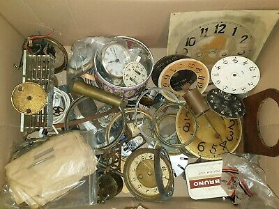 Antique Clock Parts From Clockmakers Collection Spare Parts, job lot, ref A15