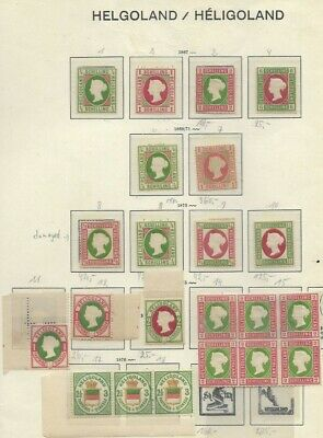 German States Heligoland collection of 22 stamps not determined +++++++++