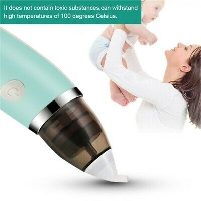 Electric Baby Nasal Aspirator Vacuum Sucker Nose Mucus Snot Cleaner R8A0G