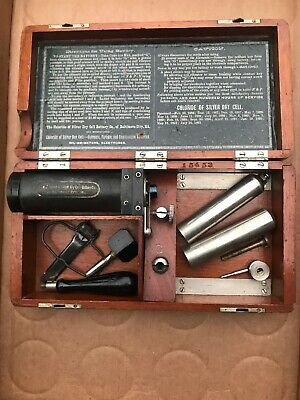 Quack Science Medical Instrument Antique Chloride Of Silver Dry Cell Battery