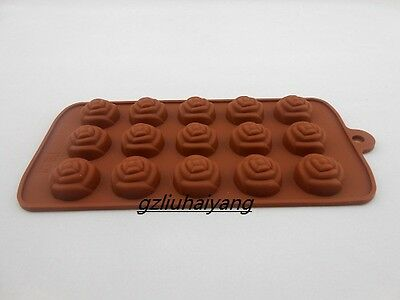 Roses Shaped Silicone Cake Decorating Cookie Chocolate Mold Baking Tool*