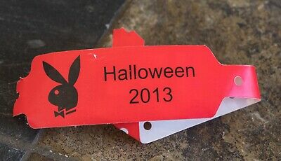 Official 2013 PLAYBOY MANSION HALLOWEEN Party Wristband - RARE!!