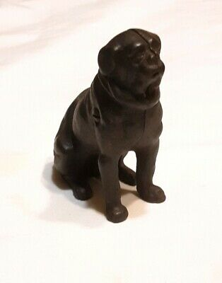 Antique 'PUG DOG' Seated Cast Iron Still Bank, Kyser & Rex c1889