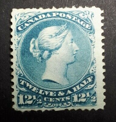 CANADA scott#28 LARGE QUEEN, fine, mint, no gum, hinged. Cat $600
