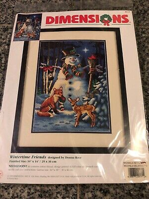 Dimensions Needlepoint Kit Wintertime Friends #9117  Nice
