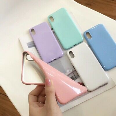 b0f8d1639 Candy Solid Color Glossy TPU Skin Case Cover for Apple iPhone X 6 7 8 XS