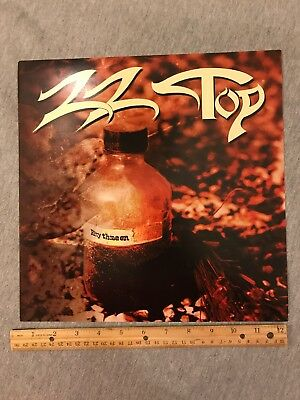 ZZ Top Rhythmeen Promo Album Flat Wall Window Display Poster