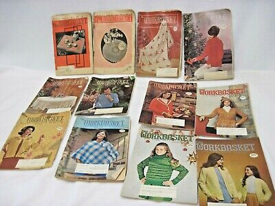 Vintage The Workbasket Lot Of 12 Home And Needlecraft Magazine 1961 - 1974