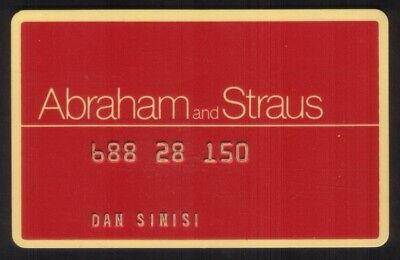 Abraham and Straus Stores (A&S) Regular Size Merchant Credit Card