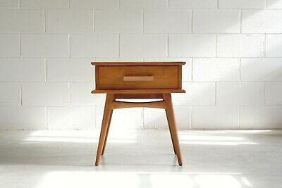 mid century modern by FLER bedside drawers table vintage Danish style retro 50s
