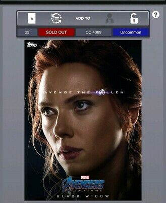Marvel Collect By Topps - Digital - Avenge The Fallen Series 1 - Black Widow