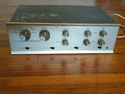 Dynaco PAS-3X Tube Stereo Preamplifier Mullard 12AX7 - Works & Looks Excellent