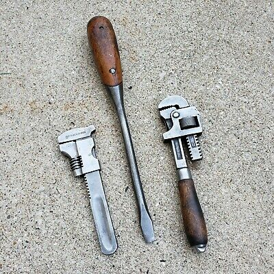 Vintage Adjustable Wrenches, Pexto, Pat Oct 18, 1898, Perfect Handle Screwdriver