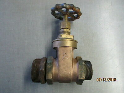 """Pat 1896 SV Stephens Mfg Co 2"""" brass gate valve,great for early pump display"""