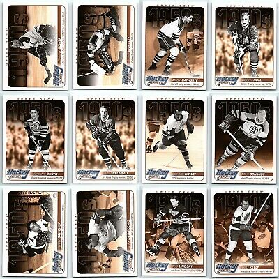2011-12 UPPER DECK HOCKEY HEROES 1950's Complete Insert Set Lot HH1-HH12 Rare