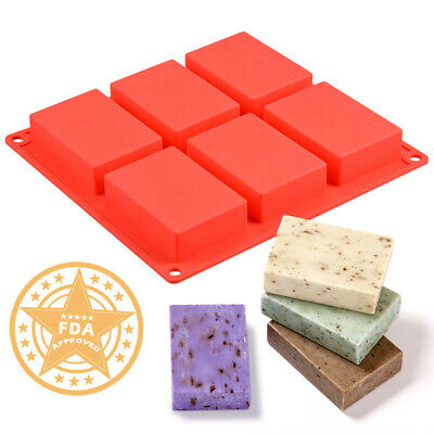 Cavity Silicone Mold for Making Soaps 3D Plain Soap Mold Rectangle DIY Handmade