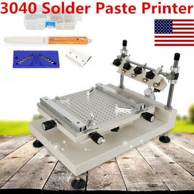3040 Manual High Precision Stencil Printing Machine PCB Solder Paste Covering US