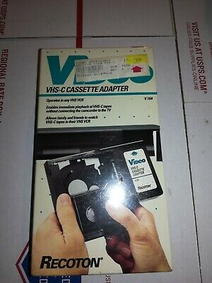 Vhs-C Cassette Adapter Play Vhsc Video Tapes On Vcr For Rca Vca115 ,Vcc113   C3