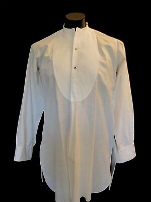 Vintage Shirt - Band Neck Collarless Dress Shirt - by Welch Margetson