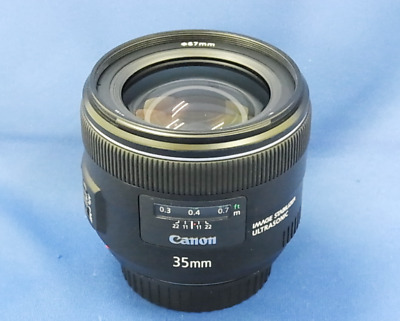Excellent Condition Canon EF 35 mm f/2.0 IS UMS Wide Angle Lens