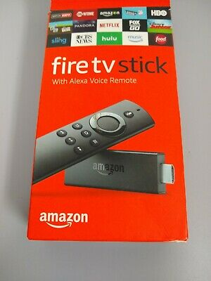 Amazon Fire TV Stick With Alexa Voice Remote 2nd Generation Streaming Player