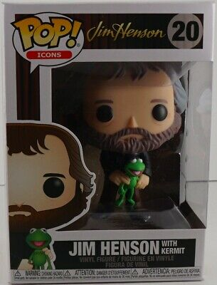 FUnko Pop Icons Jim Henson with Kermit #20 Ready to ship