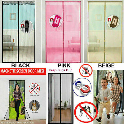 Magic Door Curtain Mesh Magnetic Snap Hands Free Bug Fly Mosquito Insect Screen