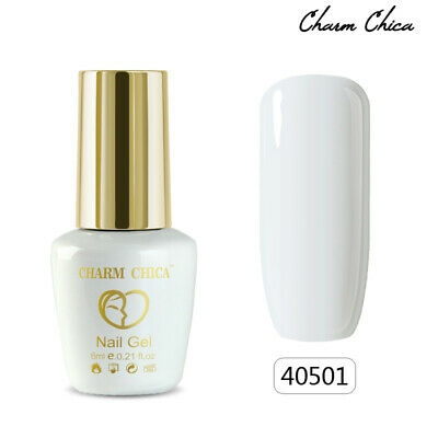 CHARM CHICA 6ml Soak Off UV Gel Nail Polish DIY Manicure White Color  #40501