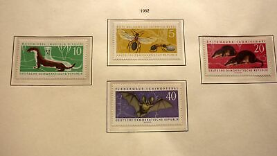 Ddr East Germany Mint Stamps, Mnh, 1961 Protected Animals Set Of 4