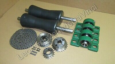 Motorcycle Roller Paddock Race Starter - Rollers Bearings Sprockets and Chain