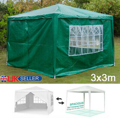 3x3M PE Party Wedding Tent Gazebo Outdoor Garden Marquee Patio Canopy GREEN New